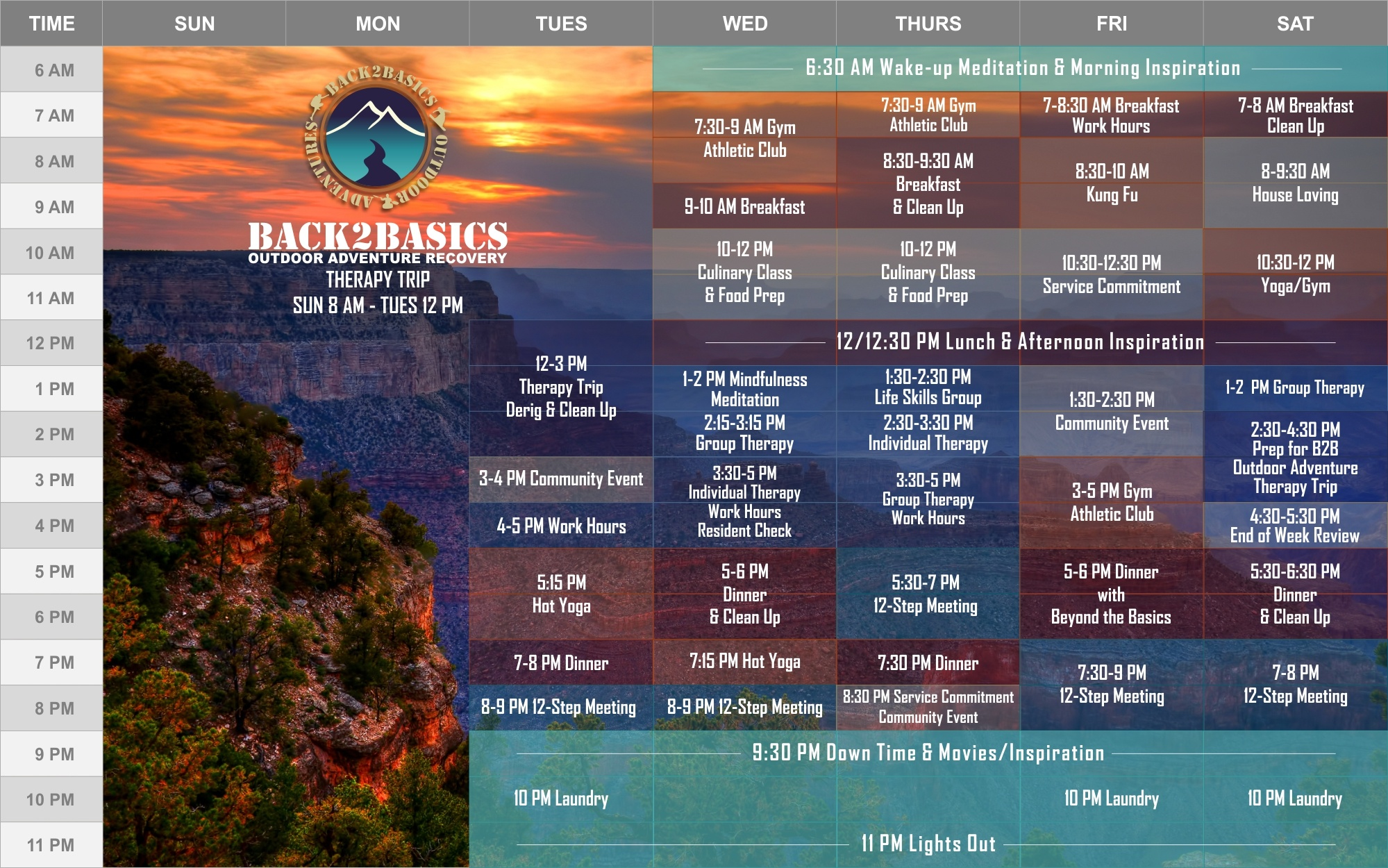 Back2Basics Weekly Calendar