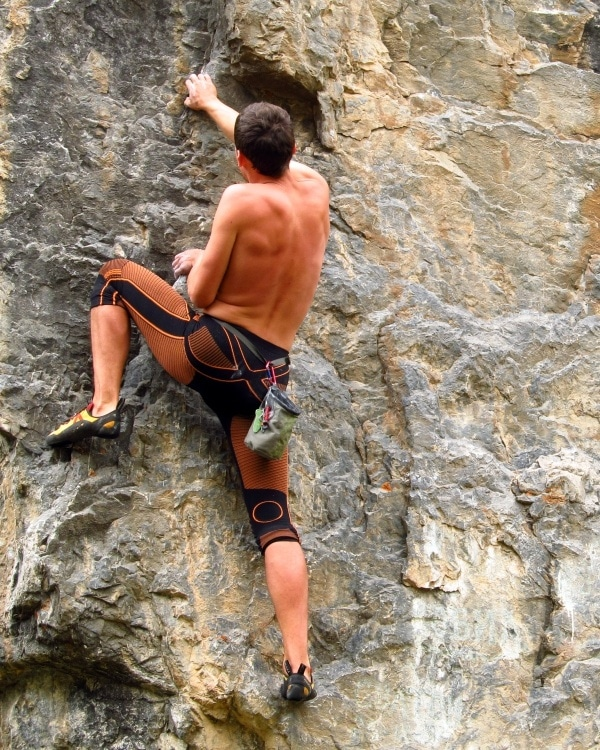 Coconino National Forest Young Man Climbs