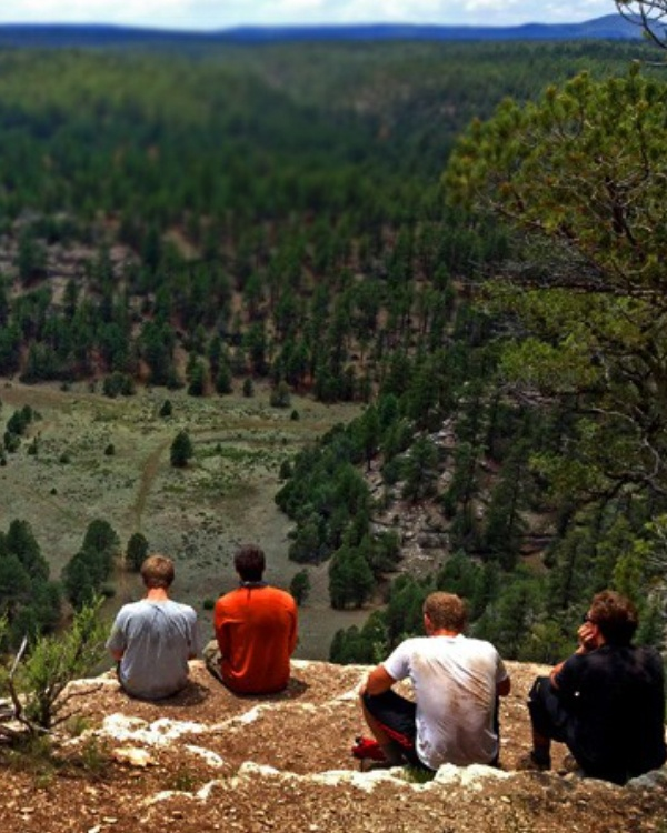Hiking Camping Young Men