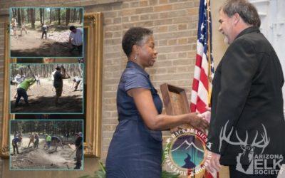 Back2Basics Recognized USFS National Partnership Award by Arizona Elk Society