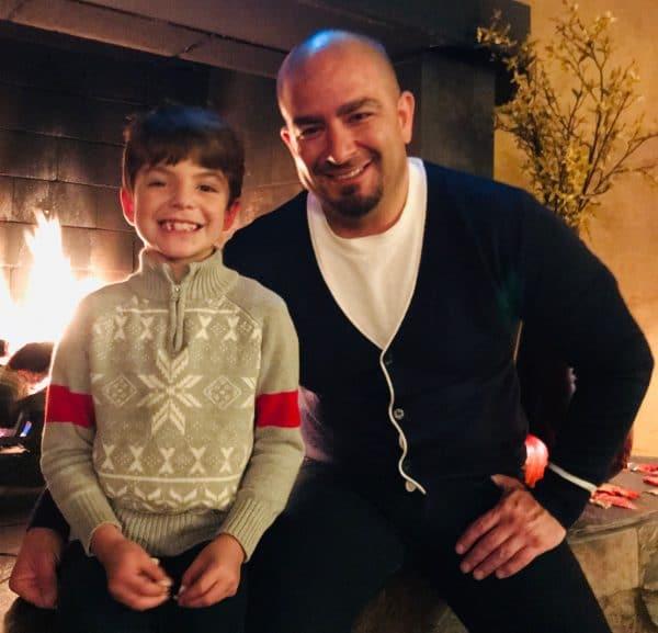 DuPrez and son Emi