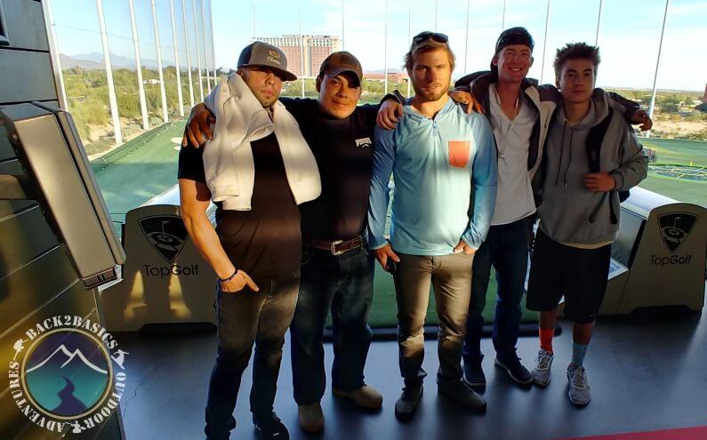 Young Men Golfing Thanksgiving