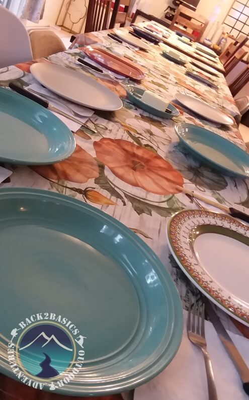 Thanksgiving Table with Settings