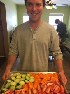 Scott Makes Roasted Persimmon Salsa