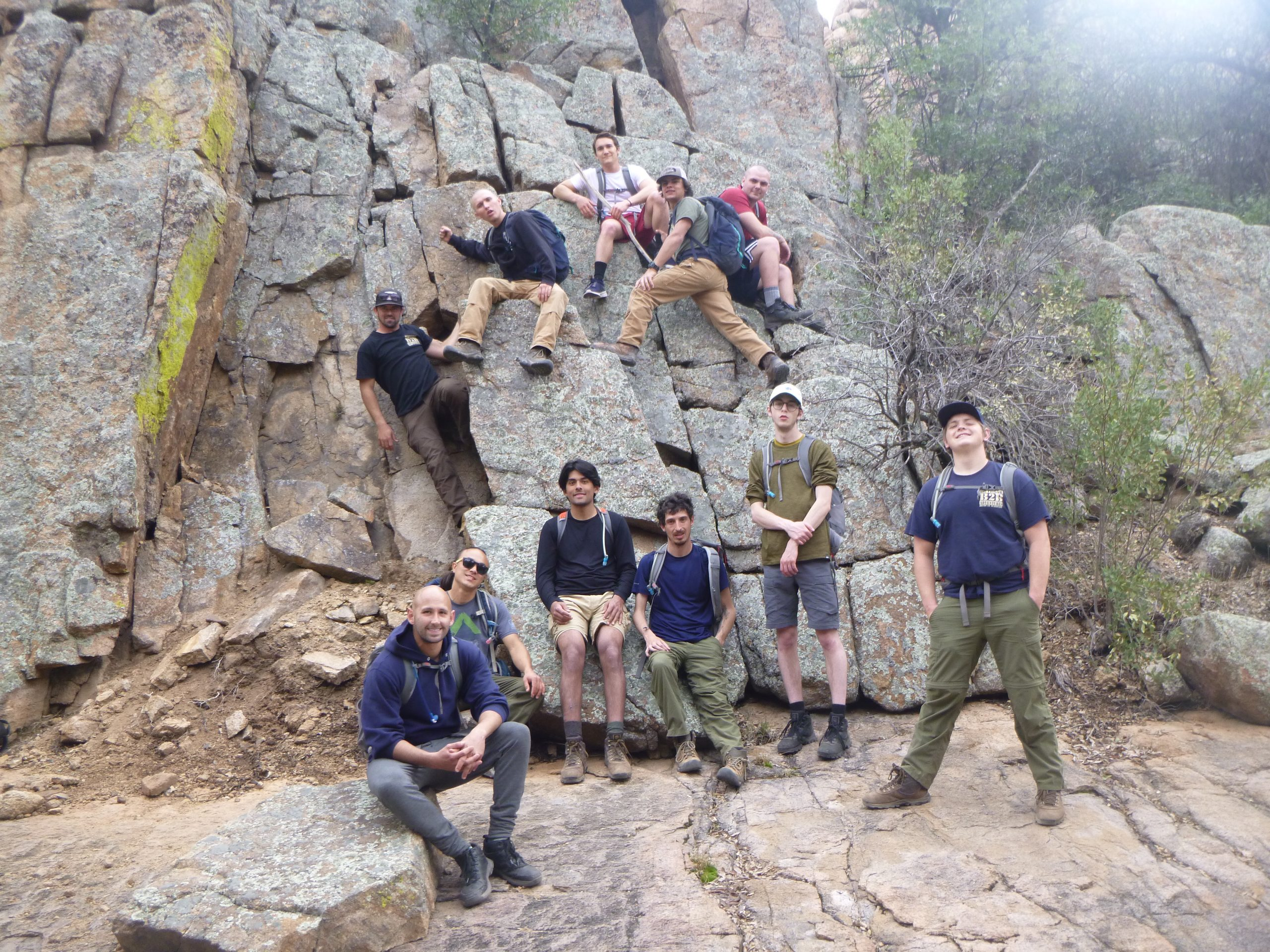 Outdoor Treatments For Addiction Young Men on Rocks